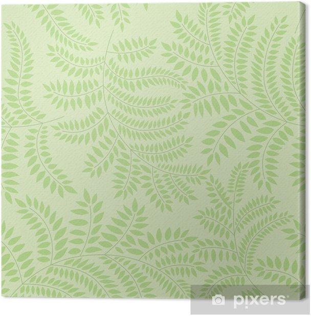 Tableau Sur Toile Pattern Avec Des Feuilles Sur Fond Vert Imprimer Pixers Nous Vivons Pour Changer
