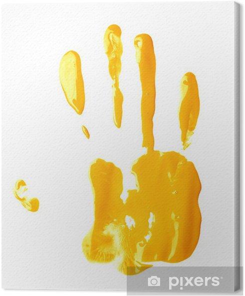 Tableau sur toile Paume de la main peinture à l'huile d'impression - Art et création