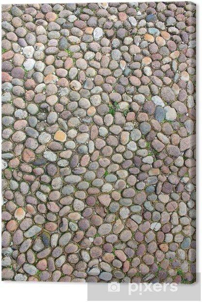Tableau sur toile Pavimentazione une mosaïque - Maisons et jardins
