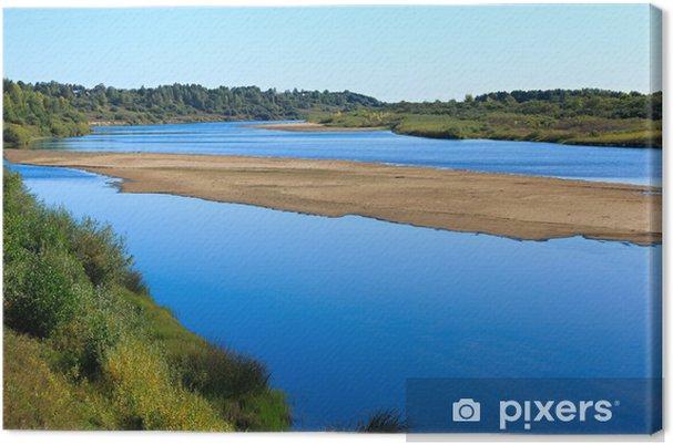 Tableau sur toile Paysage avec une rivière et le ciel en été. - Eau