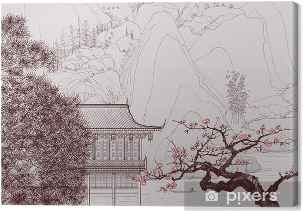 Tableau sur toile Paysage chinois - Styles