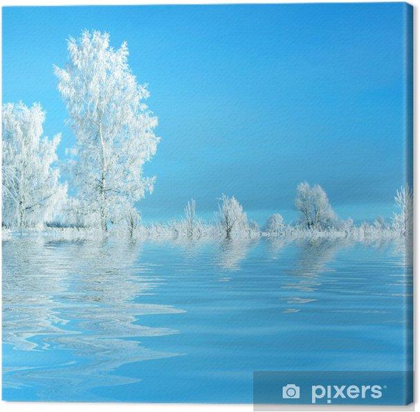 Tableau sur toile Paysage d'hiver - Thèmes