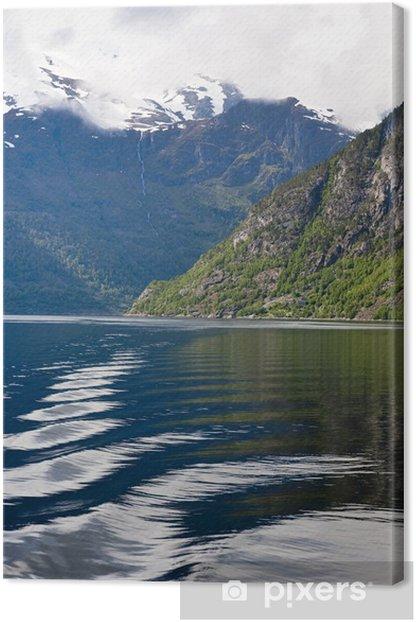 Tableau sur toile Paysage de fjord - Europe