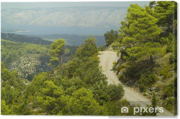 Tableau sur toile Paysage de l'île de Hvar, Croatie - Sports d'extérieur