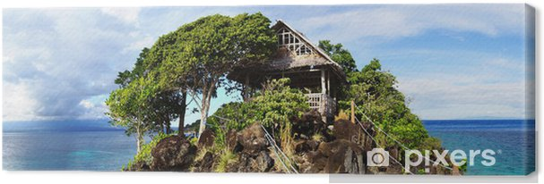 Tableau sur toile Paysage de mer pittoresque. Île Apo, Philippines - Îles