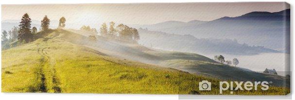 Tableau sur toile Paysage de montagnes - Saisons