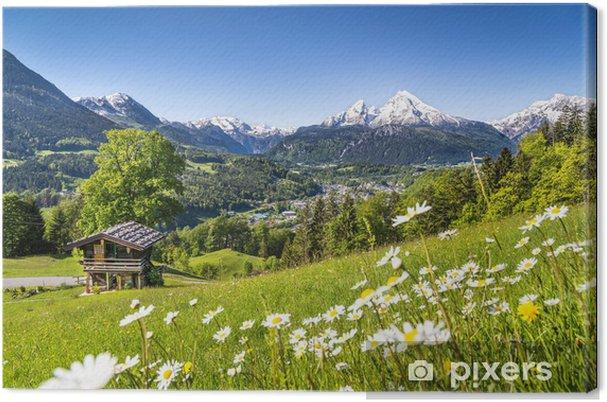Tableau sur toile Paysage pittoresque dans les Alpes bavaroises - Allemagne