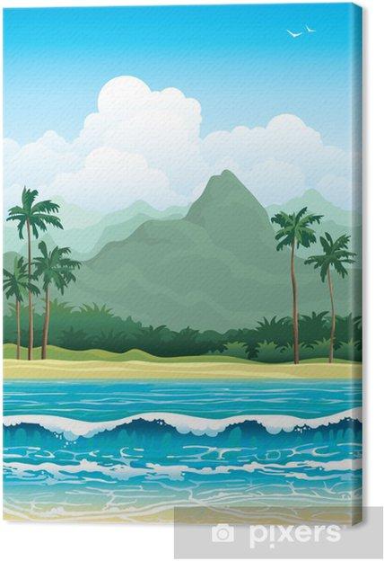 Tableau sur toile Paysage tropicale - Saisons