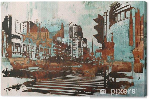 peinture sur toile urbain