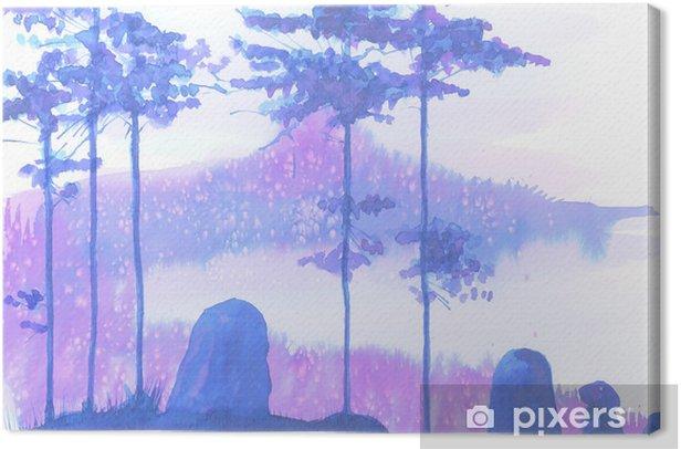 Tableau sur toile Paysage - Plantes