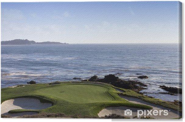 Tableau sur toile Pebble Beach golf, Monterey, Californie, USA - Thèmes