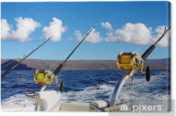 Tableau sur toile Pêche en haute mer à Hawaii - Sports d'extérieur