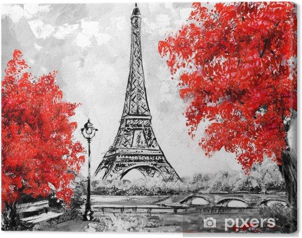 Tableau Sur Toile Peinture A L Huile Paris Paysage De La Ville