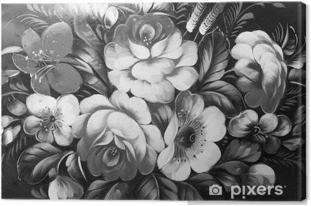 Tableau sur toile Peinture à l'huile, style impressionnisme, peinture de texture, fleur nature morte peinture art peint image couleur, - Ressources graphiques