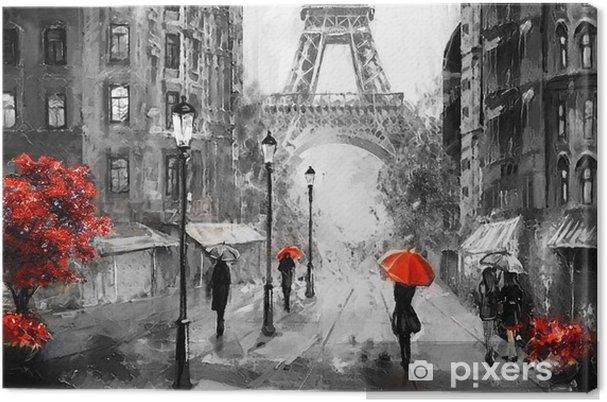 Tableau Sur Toile Peinture A L Huile Sur Toile Vue De Paris