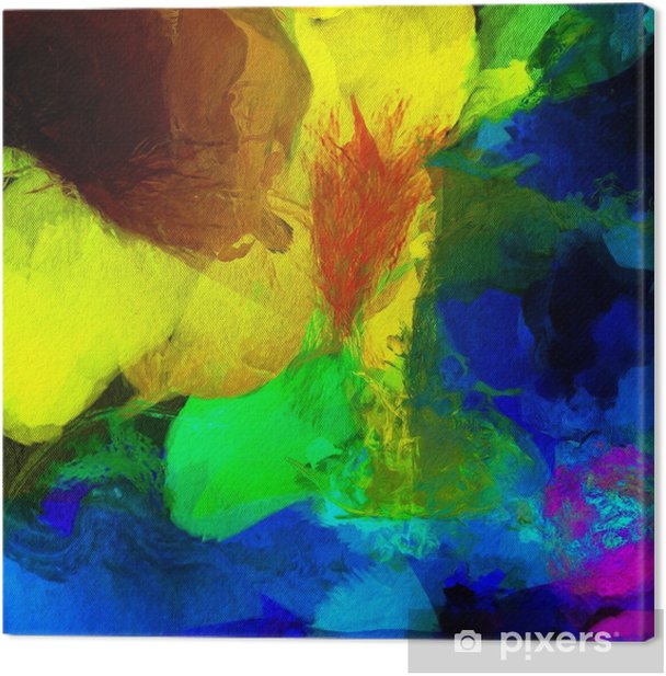 Tableau sur toile Peinture abstraite colorée - Ressources graphiques