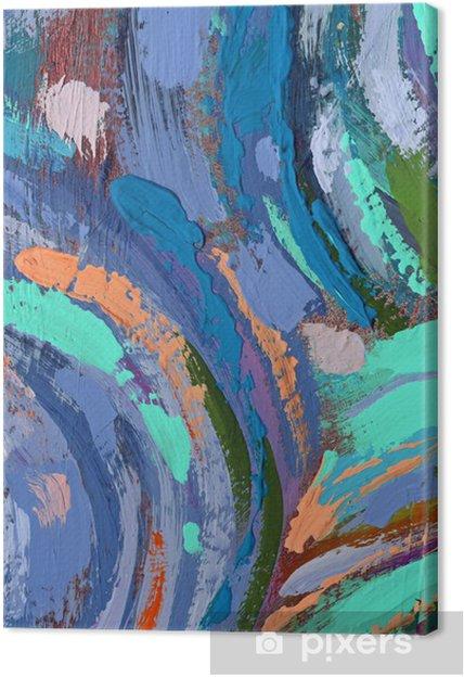 Tableau Sur Toile Peinture Acrylique Abstraite De Fond Pixers