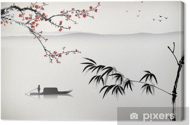 Tableau sur toile Peinture de paysage chinoise - Thèmes