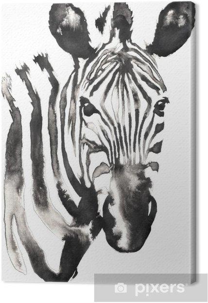 Tableau Sur Toile Peinture Monochrome Noir Et Blanc Avec De Leau Et