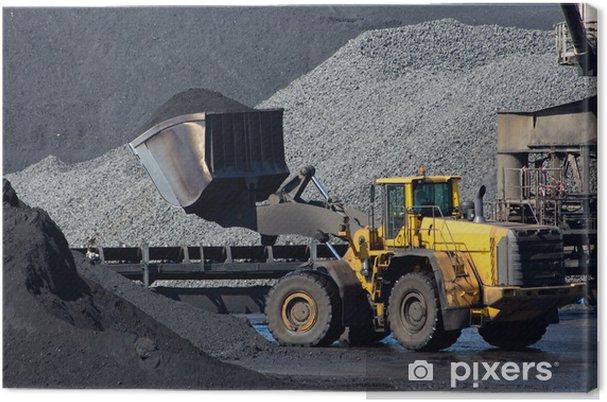 Tableau sur toile Pelle charbon - Matières premières