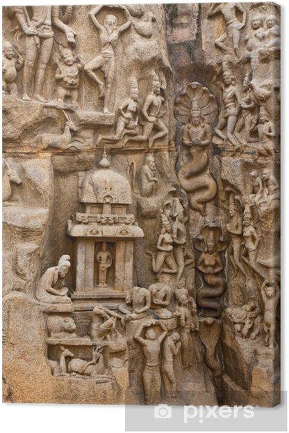 Tableau sur toile Pénitence d'Arjuna Monument - Asie