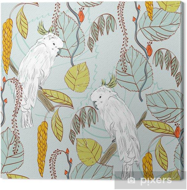Tableau sur toile Perroquet - Saisons