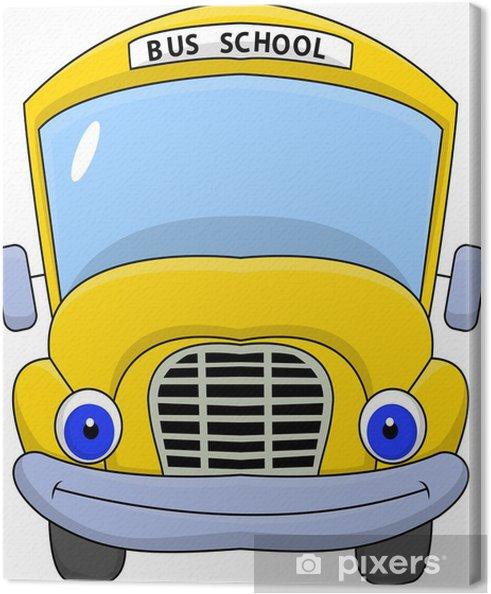Tableau Sur Toile Personnage De Dessin Animé D Autobus Scolaire