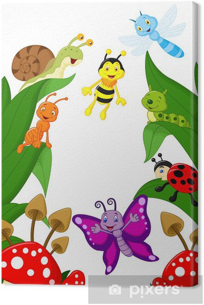 Tableau sur toile Petit dessin animé animaux - Autres Autres