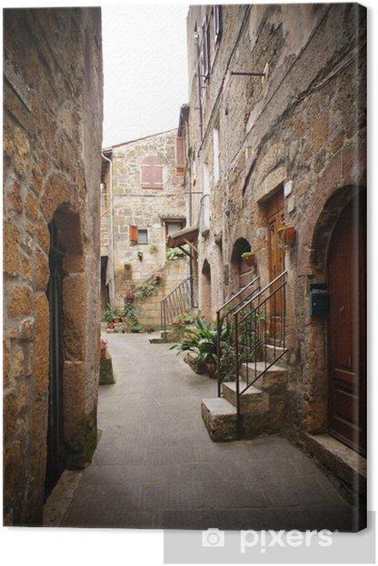 Tableau sur toile Petite ruelle dans un village italien - Thèmes