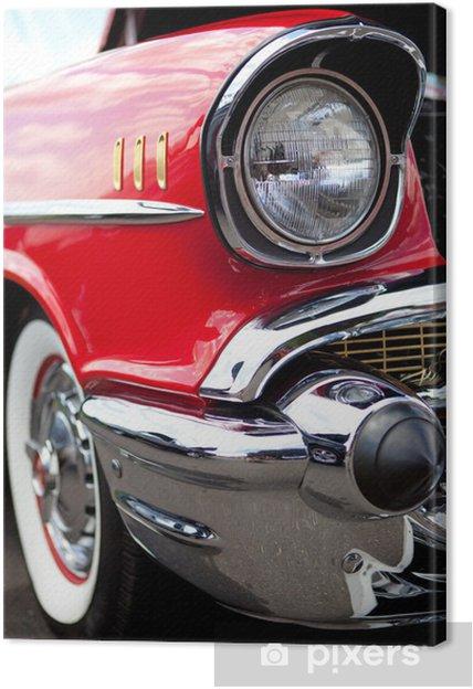 Tableau sur toile Phare Classic Car -
