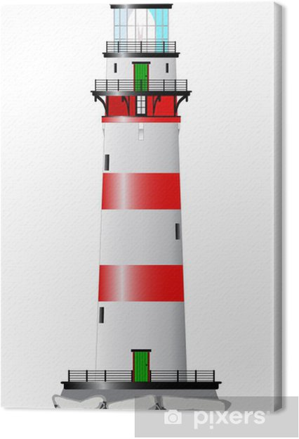 Tableau sur toile Phare isolé - Infrastructures