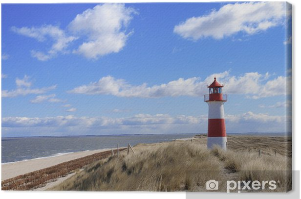 Tableau sur toile Phare phare phare Sylt dunes Danemark - Phare