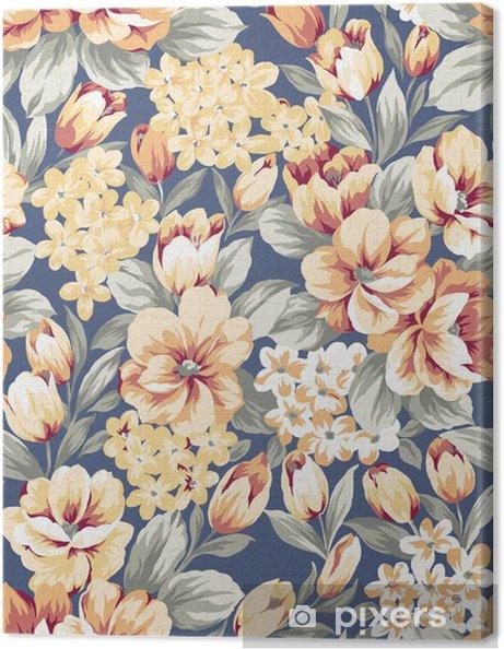 Tableau sur toile Photo: fond floral, élément de design pattern - Art et création