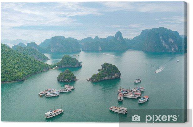 Tableau sur toile Picturesque sea landscape. Baie d'Ha Long, Vietnam - Asie