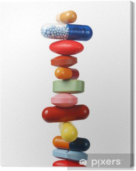 Tableau Sur Toile Pile De Pilules Et De Gelules Pixers Nous Vivons Pour Changer