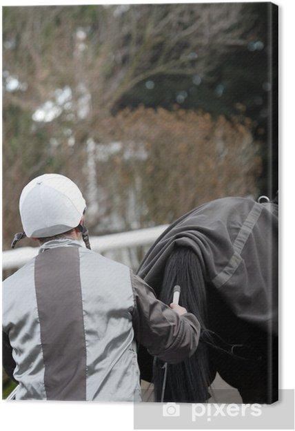 Tableau sur toile Pilote et son cheval - Sports individuels