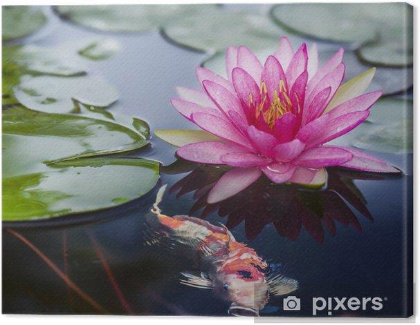 Tableau sur toile Pink lotus - Fleurs