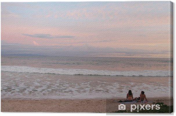 Tableau sur toile Pink sky - Eau