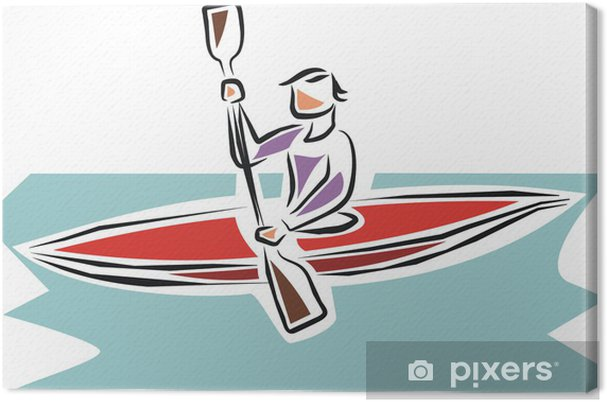 Tableau sur toile Piragua - Sports individuels