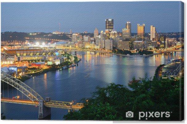 Tableau sur toile Pittsburgh horizon - Thèmes