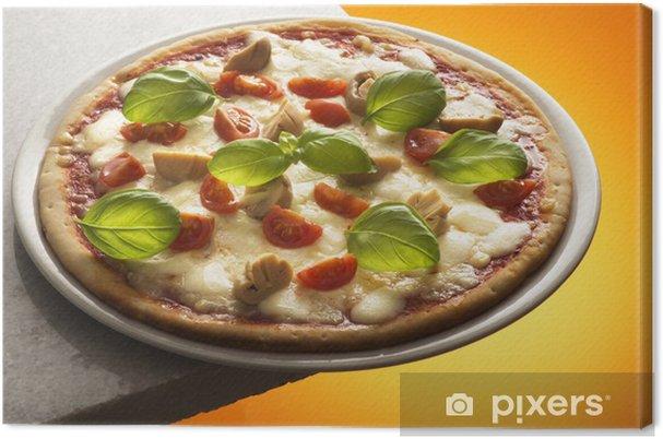 Tableau sur toile Pizza aux champignons - Thèmes