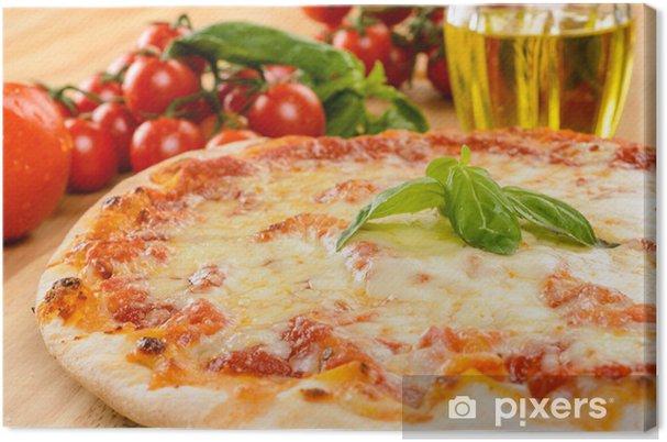 Tableau sur toile Pizza marguerite, close-up, attention sélective - Thèmes