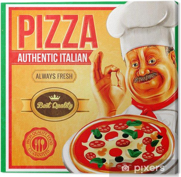 Tableau sur toile Pizza Vintage - Styles