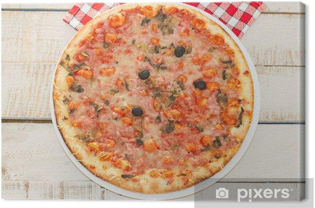 Tableau sur toile Pizzas - Destin