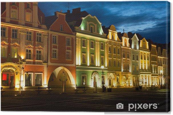 Tableau sur toile Place du Vieux Marché à Boleslawiec (allemand: Bunzlau) en Pologne. - Thèmes