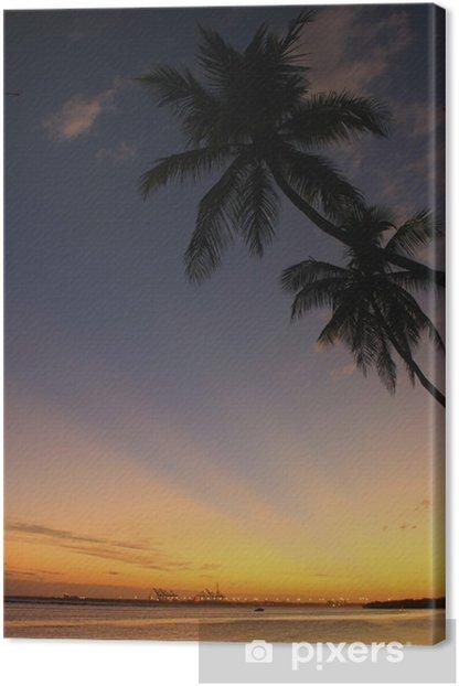 Tableau sur toile Plage Boca Chica au coucher du soleil - Eau
