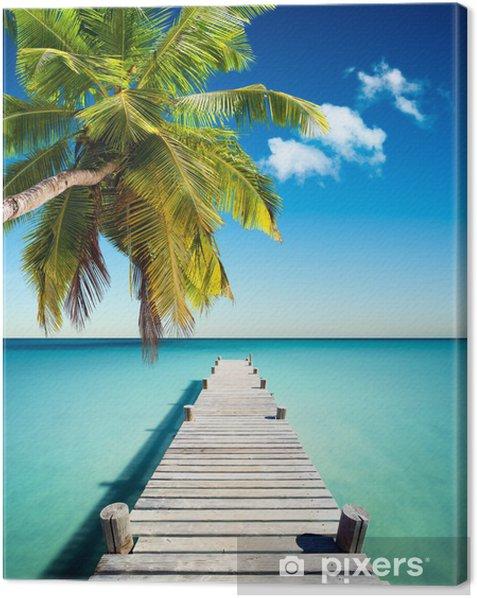 Tableau sur toile Plage de noix de coco - Palmiers
