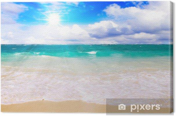Tableau sur toile Plage des Caraïbes et du soleil. - Vacances