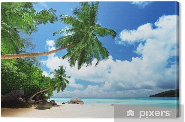 Tableau sur toile Plage sur l'île de Mahé aux Seychelles - Thèmes