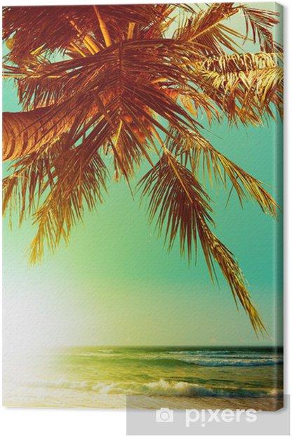 Tableau sur toile Plage tropicale au coucher du soleil - Vacances
